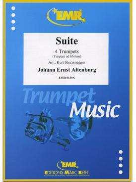 Picture of Sheet music for 4 trumpets and optional timpani by Johann Altenburg