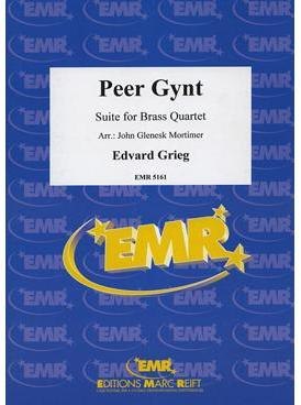 Picture of Sheet music  for 2 trumpets (bb/c); french horn (eb/f), trumpet, trombone (bc/tc) or euphonium; trombone (bc/tc) or tuba (bb/c/eb). Sheet music for brass quartet by Edvard Grieg