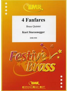 Picture of Sheet music  for 2 trumpets (bb/c); french horn (eb/f); trombone (bc/tc) or euphonium; trombone (bc/tc), euphonium or tuba (bb/c). Sheet music for brass quintet by Kurt Sturzenegger