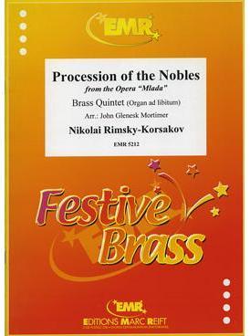 Picture of Sheet music  for 2 trumpets (Bb/C); french horn (Eb/F) or trumpet; trombone (bc/tc) or euphonium; trombone, euphonium or tuba (C/E); organ (optional). Sheet music for brass quintet with optional organ by Nikolai Rimsky-Korsakov