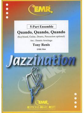 Picture of Sheet music  for violin, flute, oboe, soprano clarinet, clarinet, soprano sax, trumpet (Bb/C), cornet or mallet instruments; violin, clarinet, alto sax or trumpet (Bb/C); violin, viola, clarinet, alto sax, tenor sax, french horn (Eb/F), trumpet (Bb/C), baritone or trombone (bc/tc); cello, bassoon, tenor sax, french horn (Eb/F), baritone or trombone (bc/tc); cello, double bass, bass guitar, bass clarinet, bassoon, baritone sax, baritone, trombone (bc/tc) or tuba (Bb/C/Eb); electric keyboard (optional); guitar (optional); percussion (optional). Sheet music for string, woodwind, brass or mixed quintet with optional electronic keyboard, guitar and percussion by Orfello Cesari, Tony Renis and Alberto Testa