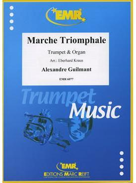 Picture of Sheet music for trumpet in Bb or C and organ by Alexandre Guilmant