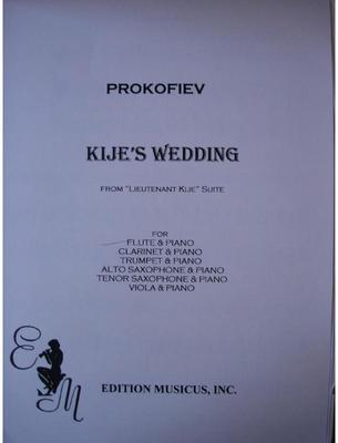 Picture of Sheet music for violin or flute and piano by Sergei Prokofiev