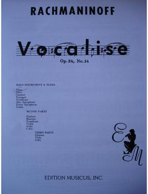 Picture of Sheet music for violin, flute or oboe and piano by Sergei Rachmaninov