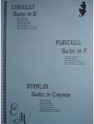 Picture of Sheet music for clarinet, tenor saxophone, trumpet or euphonium and piano by Antonio Vivaldi