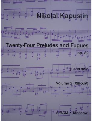 Picture of Sheet music for piano solo by Nikolai Kapustin