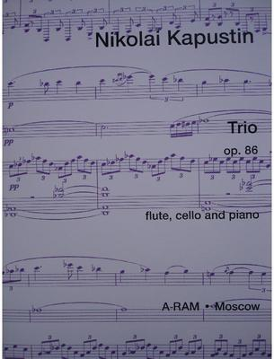 Picture of Sheet music for flute, cello and piano by Nikolai Kapustin