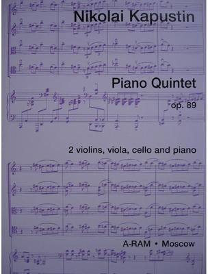 Picture of Sheet music for 2 violins, viola, cello and piano by Nikolai Kapustin