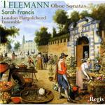 Picture of CD of Sarah Francis (oboe) and members of the London Harpsichord Ensemble performing Telemann Sonatas for Oboe and Continuo