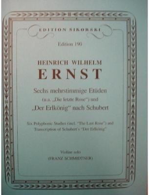 Picture of Sheet music for violin solo by Heinrich Ernst