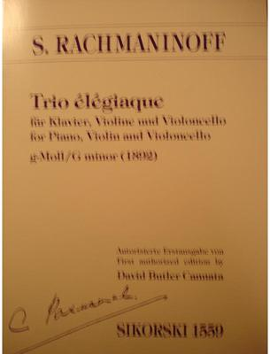 Picture of Sheet music for violin, cello and piano by Sergei Rachmaninov