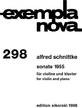 Picture of Sheet music for violin and piano by Alfred Schnittke