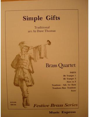 Picture of Sheet music  for 2 trumpets; french horn or trombone; trombone by Anonymous. Sheet music for brass quartet