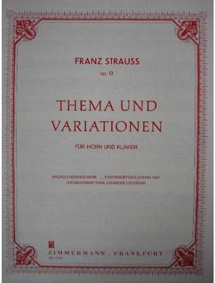 Picture of Sheet music for french horn and piano by Franz Strauss