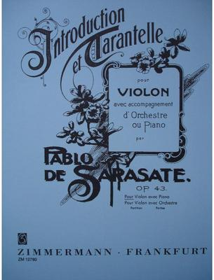 Picture of Sheet music for violin and piano by Pablo de Sarasate