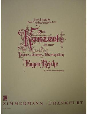 Picture of Sheet music for baritone, trombone or euphonium and piano by Eugen Reiche