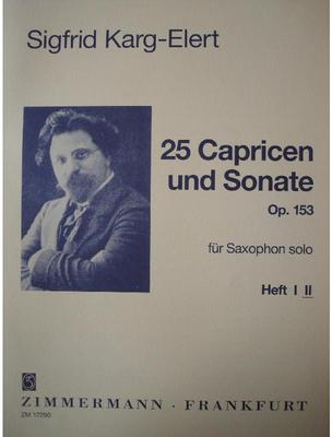 Picture of Sheet music for saxophone and piano by Sigfrid Karg-Elert