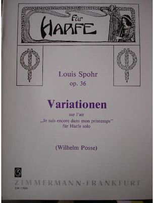 Picture of Sheet music for harp solo by Louis Spohr