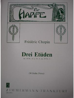Picture of Sheet music for harp solo by Frédéric Chopin