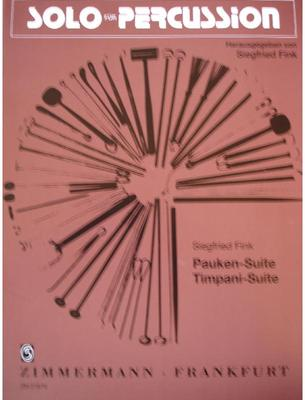 Picture of Sheet music for timpani solo by Siegfried Fink