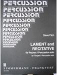Picture of Sheet music for timpani and percussion by Steve Fitch