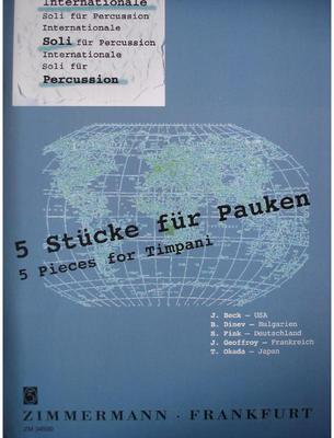 Picture of Sheet music  by Album of composers. Sheet music album for timpani and percussion edited by Siegfried Fink