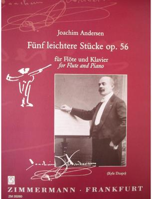 Picture of Sheet music for flute and piano by Joachim Andersen