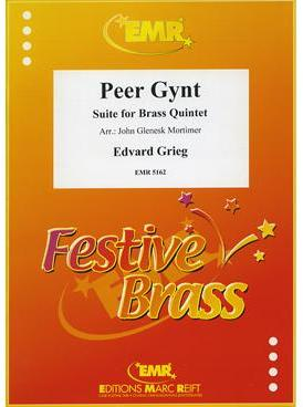 Picture of Sheet music  for 2 trumpets (bb/c); french horn (eb/f) or trumpet; trombone (bc/tc) or euphonium; trombone (bc/tc) or tuba (bb/c/eb). Sheet music for brass quintet by Edvard Grieg