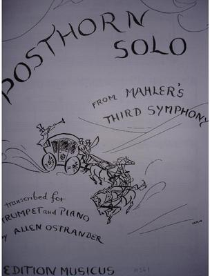 Picture of Sheet music for trumpet and piano by Gustav Mahler