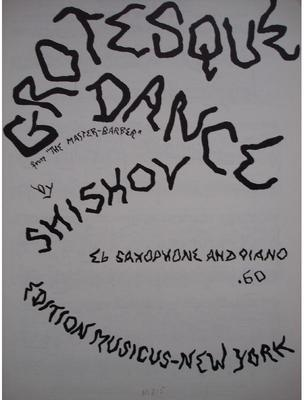 Picture of Sheet music for soprano clarinet or alto saxophone and piano by Ivan Shishov