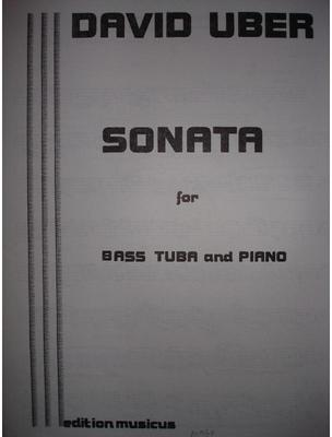 Picture of Sheet music for tuba and piano by David Uber