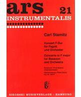 Picture of Sheet music for bassoon and piano by Karl Stamitz