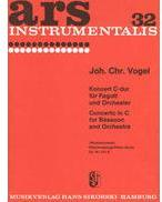 Picture of Sheet music for bassoon and piano by Johann Vogel
