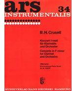 Picture of Sheet music for clarinet and piano by Bernhard Crusell