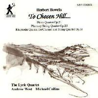 Picture of CD of chamber music by Herbert Howells, performed by the Lyric Quartet with Michael Collins (clarinet) and Andrew West (piano).