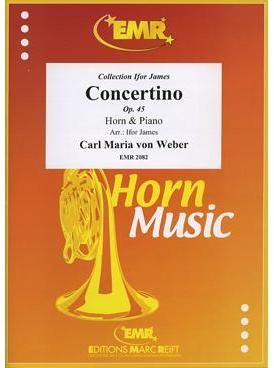 Picture of Sheet music for french horn in E or F and piano by Carl Maria von Weber