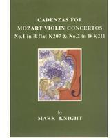 Picture of Sheet music  by Wolfgang Amadeus Mozart. Sheet music for violin. Cadenzas for Mozart Violin Concertos K207/K211