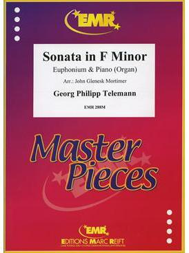 Picture of Sheet music for euphonium and piano or organ by Georg Philipp Telemann