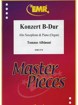 Picture of Sheet music for alto saxophone and piano or organ by Tomaso Albinoni