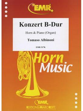 Picture of Sheet music for french horn in Eb or F and piano or organ by Tomaso Albinoni