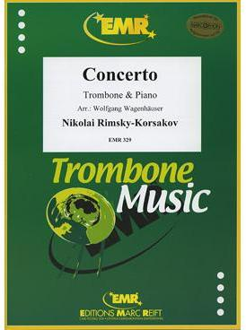 Picture of Sheet music for tenor trombone and piano by Nikolai Rimsky-Korsakov