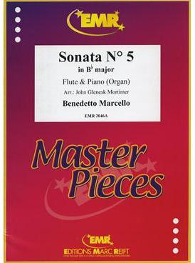 Picture of Sheet music for flute and piano or organ by Benedetto Marcello