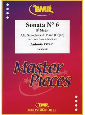 Picture of Sheet music  by Antonio Vivaldi. Sheet music for alto saxophone and piano or organ by Tomaso Albinoni