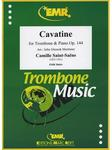Picture of Sheet music  for trombone (bc/tc) and piano. Sheet music for tenor trombone in bass or treble clef and piano by Camille Saint-Saëns
