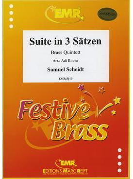 Picture of Sheet music  for 2 trumpets (bb/c); french horn (eb/f); baritone, trombone (bc/tc) or euphonium; trombone (bc/tc), euphonium or tuba (bb/c/eb). Sheet music for brass quintet by Samuel Scheidt