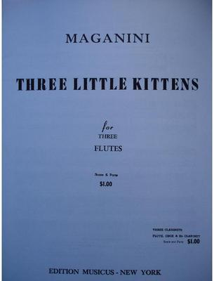 Picture of Sheet music for 3 violins, equal recorders, flutes or oboes, or 3 clarinets, tenor saxophones or trumpets, or 3 alto saxophones, or 3 french horns by Quinto Maganini