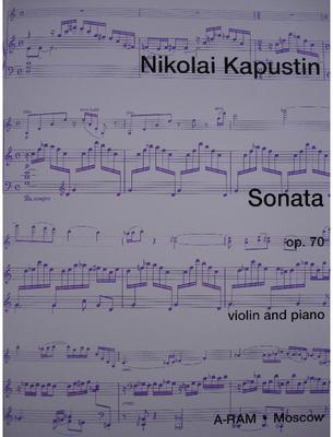 Picture of Sheet music for violin and piano by Nikolai Kapustin
