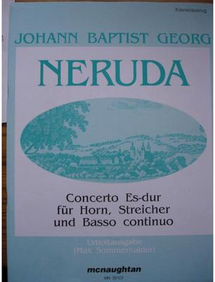 Picture of Sheet music for french horn in Bb or Eb or trumpet and piano by Johann Neruda