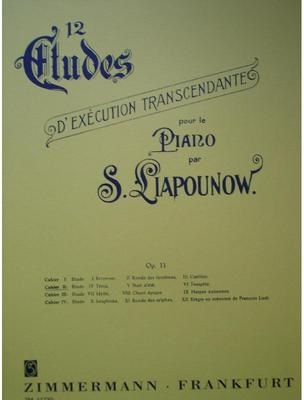 Picture of Sheet music for piano solo by Sergei Liapunov