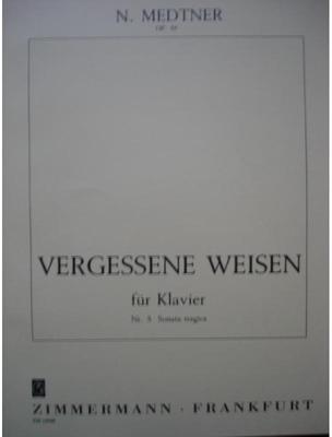 Picture of Sheet music for piano solo by Nicolai Medtner